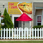 Vinyl Banner Sign Fish & Chips Deep Fried Outdoor Marketing Advertising Yellow $199.99 USD on eBay