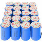 Lot of SC NiMH 4/5 SubC Sub C 1.2V 2800mAh Ni-MH Rechargeable Battery With Tab