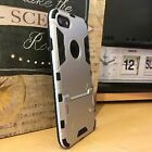 iPhone 8 Urban Ballistic Rugged Dual Layer Silver Case & Glass Screen Protector
