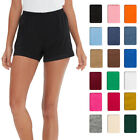 Pull-On Womens Shorts Cotton Jersey Elastic Casual Running Sport Short Plus Size