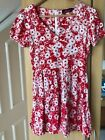 Motel Rocks size Xs/8 red and white floral dress