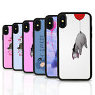 Eeyore Winnie Pooh Black Rubber Mobile Phone Case Cover Fits Iphone 4 5 6 7 8 X