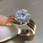 3.00 Ct Round Cut Diamond 10k Yellow Gold Six Claw Solitaire Engagement Ring