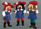 The 3 musketeer costume mascot carnival paneling promotional buy adult NEW 131a