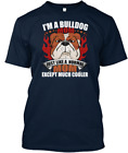 Im A Bull Dog Mom T-Shirt 100% cotton M-3XL US Men's Women's Clothing trend 2019