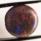 6.13 ct GREEN, RED AND BLUE FLASH LIGHTNING RIDGE AUSTRLIAN BLACK OPAL