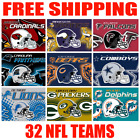 FULL 32 NFL Teams Logo Helmet Flag 2019 Fan Banner 3x5 ft NEW - Pick Your Team $10.95 USD on eBay