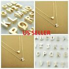 Women Gold/silver Plated Alphabet Letter W/heart A-z Pendant Chain Necklace