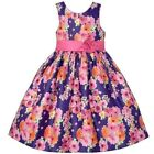 Girls AMERICAN PRINCESS purple floral party dress 4T 5 6 7 8 12 NWT Easter pink