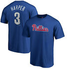 Bryce Harper Philadelphia Phillies 3 Majestic MLB Authentic Mens Jersey T Shirt