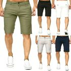 Cool Men Slim Fit Solid Cotton Blend Soft Work Uniform Knee Length Casual Short