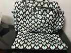 JuJu Be Be Diaper Bag Green And Black Large Cross Body With Changing Pad