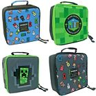 Minecraft Childrens Kids Official Pixelated Insulated Lunchboxes