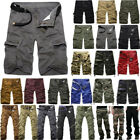 Men Cargo Tactical Shorts Pants Army Combat Military Work Long Trousers Casual