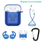 5 in 1 AirPods Case  Kits Protective Silicone Case and Cover for Charging Case