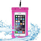 Swimming Waterproof Pouch Bag Underwater Phone Case Cover Pack With Lanyard Rope