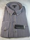 NWT VAN HEUSEN PREMIUM NO IRON LONG SLEEVE DRESS SHIRT, Reg. Fit, Purple Plaid