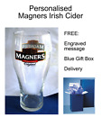 Personalised Magners Cider 1 Pint Glass Engraved Personal Touch - FREE UK P&P*