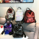 Mosaic Sequins Fashion Backpack Shoulder Bag PU Leather Girl Bag Student Cases