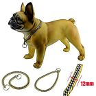 12MM Luxury Bling Stainless Steel Dog Choker P Chain Pet Callar Necklace