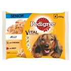 Pedigree Pouch in Jelly Senior with Beef & Chicken 4 Pack 100g Dog Food