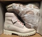 Timberland Mens Limited Release White Srpent 6 Inch Premium Boots A1P9Q. SZ:9New