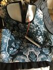 Clover Canyon Scuba Crop Top Black Blue White 16 Large Lovely Top Never Warn .