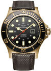 Glycine Men's GL0243 Combat Sub 48 Bronze Automatic 48mm Black Dial Watch