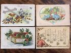 4 TUCK N SONS Postcards Christmas Easter Birthday Thanksgiving Holiday Lot A08