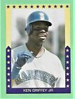 1989 Broder Baseball KEN GRIFFEY Jr. Major League Statictics Card Mariners CF c