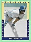 1989 Broder Baseball KEN GRIFFEY Jr. Major League Statictics Card Mariners CF a