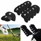 Golf Club Head Covers Iron Cover Set Black Hybrid Headcover Outdoor Sports Tools