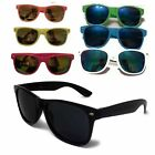 Mens Womens Sunglasses UV400  Black + Colours Lens 80s Retro Fashion Shades