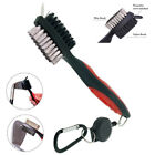 Golf Brush Groove Cleaner Dual Nylon Steel Sided Retractable Tool Club Cleaning