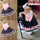 UK STOCK Toddler Kids Baby Girl Flower Dress Lace Tulle Party Pageant Dresses