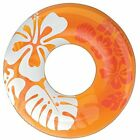 Intex Clear Yellow Orange Color Inflatable Tube Float Water Pool Hawaiian Swim
