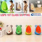 Child Baby Safety Potty Urinal Toilet Training Boy Bathroom Frog Pee Trainer USA image