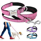 Personalised Dog Collar & Dog Lead ID Nameplate Free Engraved Large Dogs Collar