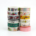 1.5cmx10m Cute School Day Designs Decorative Adhesive Washi Tape Paper Set Mask