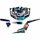 Attack Graphics QUAKE Complete UTV Graphics Kit Teal/Navy/Grey