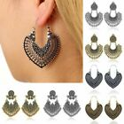 Vintage Bohemian Boho Tibetan Beads Tassel Dangle Earrings Women Jewelry Gift image