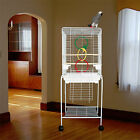 """Manoa Mansion Flattop Bird Cage - 21""""W x 16""""D x 56""""H - With Stand or Without"""