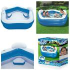 Inflatable Kiddie Pool Summer Family Fun Outdoor Kids Swim Center w/ Cup Holders