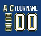 St Louis Blues Customized Number Kit for 2017 Present Jersey