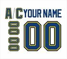 St Louis Blues Customized Number Kit for 2017 Present Away Jersey
