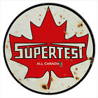 Large Reproduction Supertest Canadian Motor Oil Sign 18 Round