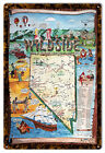 Reproduction Nevada's States Wild-side Sign.12X18