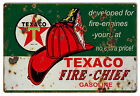 Reproduction Developed For Fire Engines Texaco Motor Oil Sign 12X18