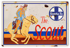 Aged Looking The Scout Santa Fe Railroad Sign 12X18