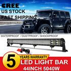 44Inch 5040W LED Work Light Bar Offroad SUV Driving Flood Spot Combo +Wiring Kit